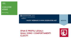Webinar Spam e profili legali