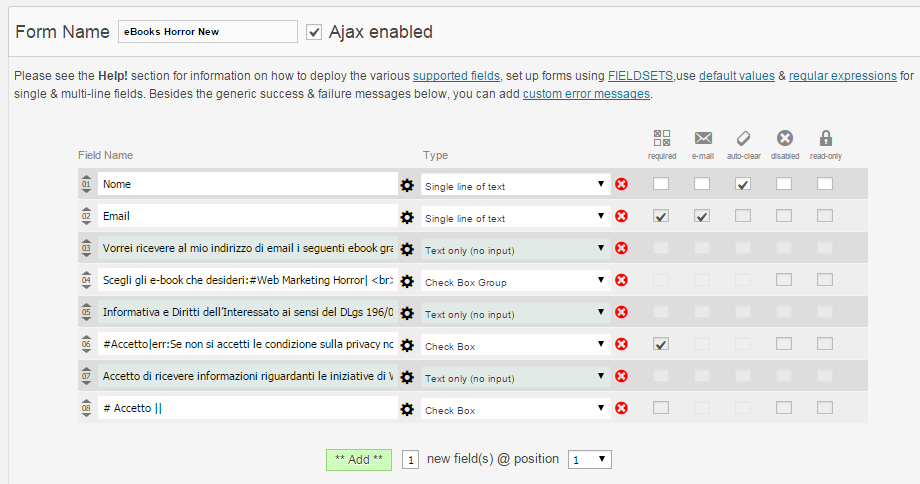 Plugin WordPress CFomsII