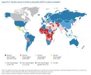Accesso all'educazione terziaria (Università) per genere