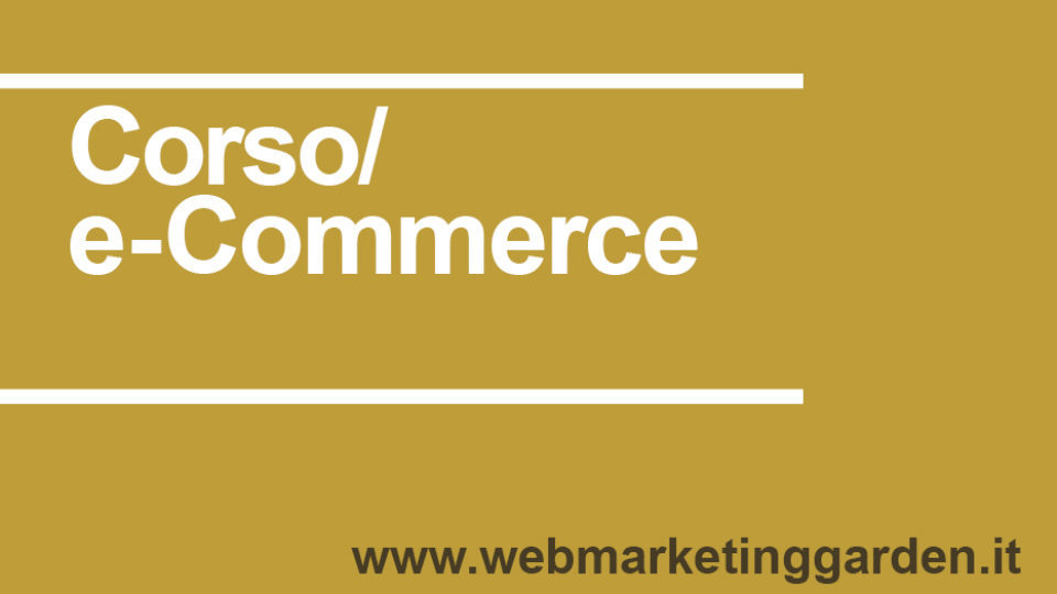 Corso e-Commerce