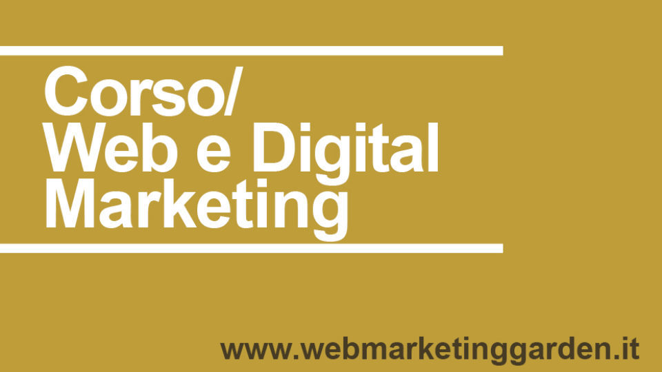 Corso Web e Digital Marketing