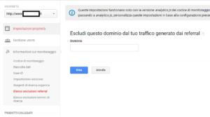 Google Analytics - Escludi referral