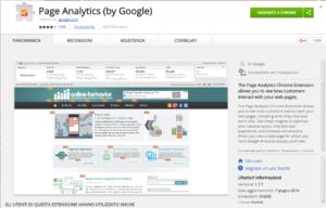 Google Analytics - Analisi dati in page